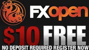 FXOpen $10 no deposit bonus