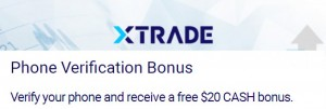 XTrade $20 no deposit bonus