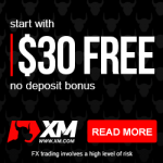 XM $30 no deposit bonus