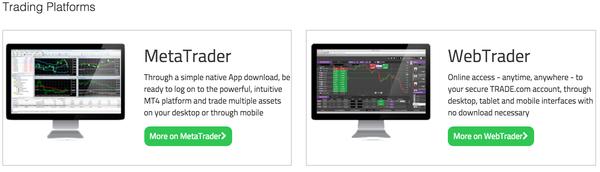 Trade.com trading platforms