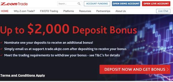 z.com trade home page