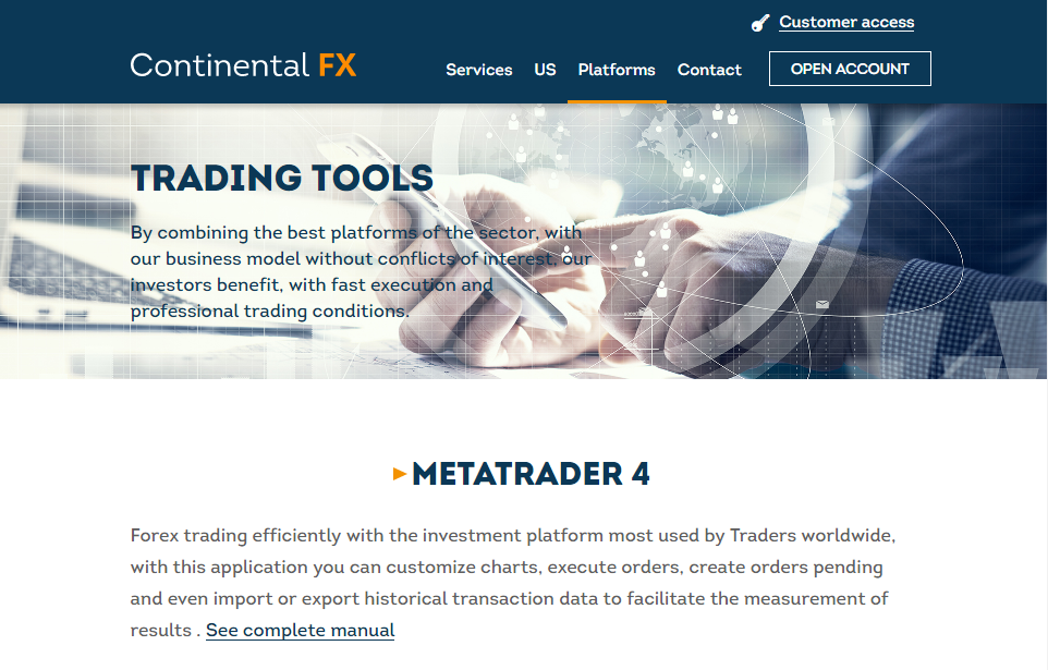 Continentalfx review of platforms