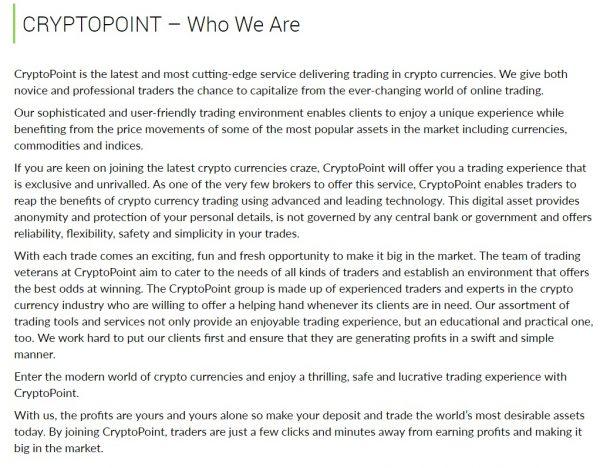 CryptoPoint-scam
