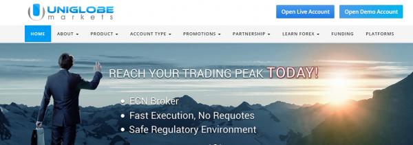 Uniglobe Markets Forex broker