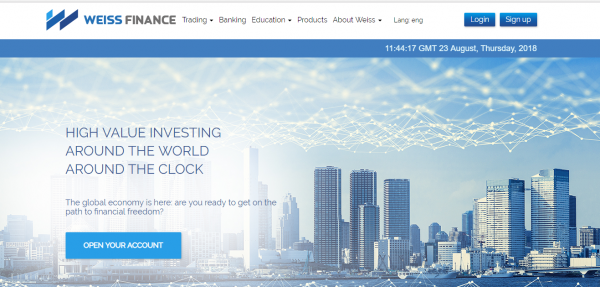 he registration and licensing of Weiss Finance Forex broker